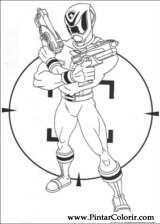 Pintar e Colorir Power Rangers - Desenho 066