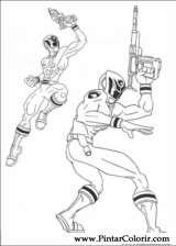 Pintar e Colorir Power Rangers - Desenho 068