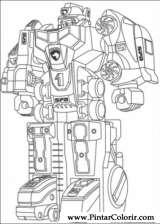 Pintar e Colorir Power Rangers - Desenho 070