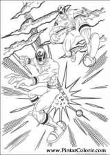 Pintar e Colorir Power Rangers - Desenho 072