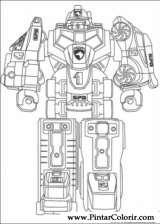 Pintar e Colorir Power Rangers - Desenho 073