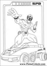 Pintar e Colorir Power Rangers - Desenho 076