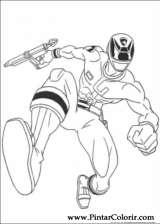 Pintar e Colorir Power Rangers - Desenho 077