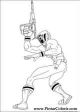 Pintar e Colorir Power Rangers - Desenho 080