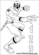 Pintar e Colorir Power Rangers - Desenho 082