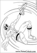Pintar e Colorir Power Rangers - Desenho 084