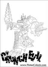 Pintar e Colorir Power Rangers - Desenho 092