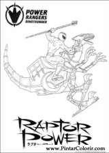 Pintar e Colorir Power Rangers - Desenho 095