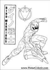 Pintar e Colorir Power Rangers - Desenho 097