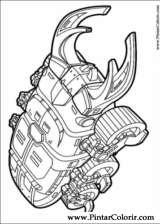 Pintar e Colorir Power Rangers - Desenho 101
