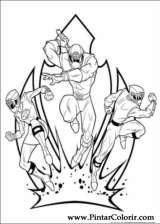 Pintar e Colorir Power Rangers - Desenho 104
