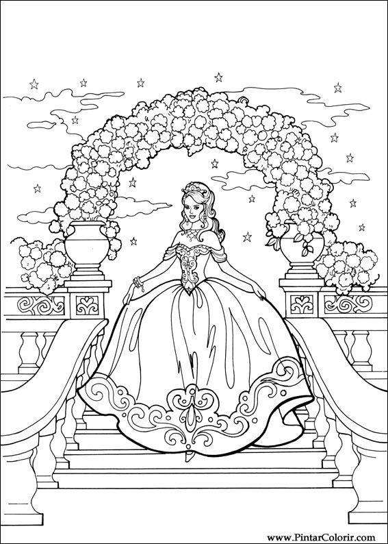 Tekeningen Te Schilderen Amp Kleur Prinses Leonora Print