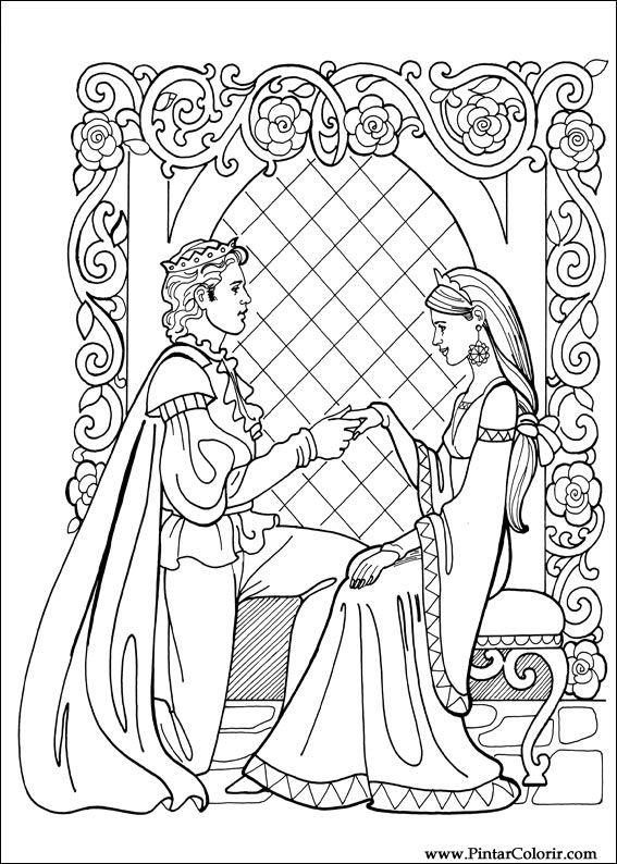 Dessins de peindre et couleur princesse leonora imprimer - Prince et princesse dessin ...