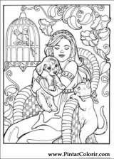 Pintar e Colorir Princesa Leonora - Desenho 005