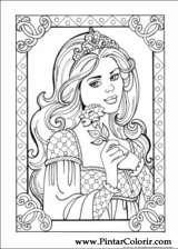 Pintar e Colorir Princesa Leonora - Desenho 006
