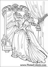 Pintar e Colorir Princesa Leonora - Desenho 008