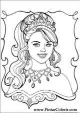 Pintar e Colorir Princesa Leonora - Desenho 010