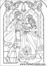 Pintar e Colorir Princesa Leonora - Desenho 012