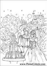 Pintar e Colorir Princesa Leonora - Desenho 014
