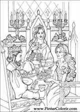 Pintar e Colorir Princesa Leonora - Desenho 018