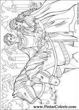 Pintar e Colorir Princesa Leonora - Desenho 019