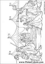 Pintar e Colorir Princesa Leonora - Desenho 020