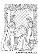 Pintar e Colorir Princesa Leonora - Desenho 023