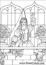 Pintar e Colorir Princesa Leonora - Desenho 025