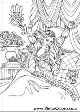 Pintar e Colorir Princesa Leonora - Desenho 026
