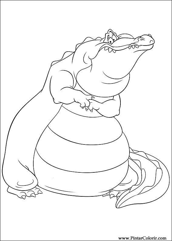 Dibujos para pintar y Color princesa rana - Diseño de impresión 002