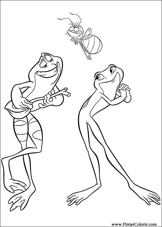 coloring pages princess and the frog - dessins de peindre et couleur frog princess imprimer