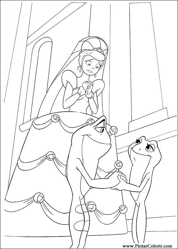 Drawings To Paint Amp Colour Princess Frog Print Design 056