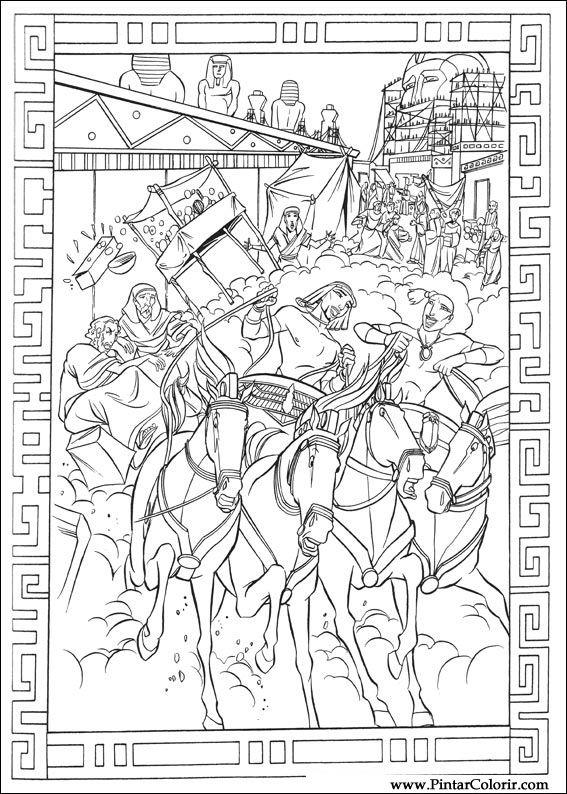 Drawings To Paint Amp Colour Principe Egypt Print Design 003
