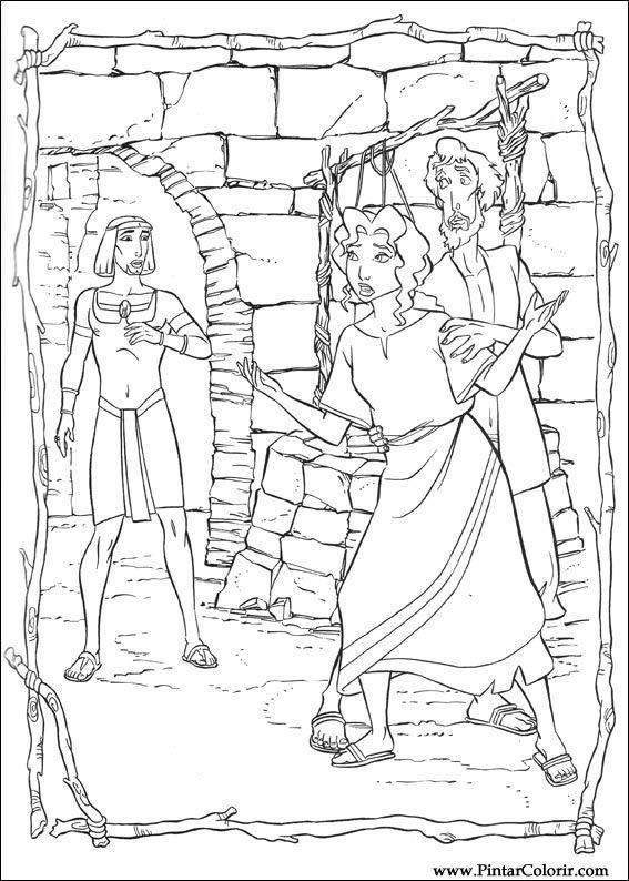 Desenhos Para Pintar E Colorir Principe Egito Imprimir