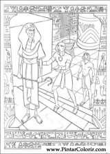 Pintar e Colorir Principe Egito - Desenho 004
