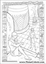 Pintar e Colorir Principe Egito - Desenho 005