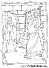 Pintar e Colorir Principe Egito - Desenho 008