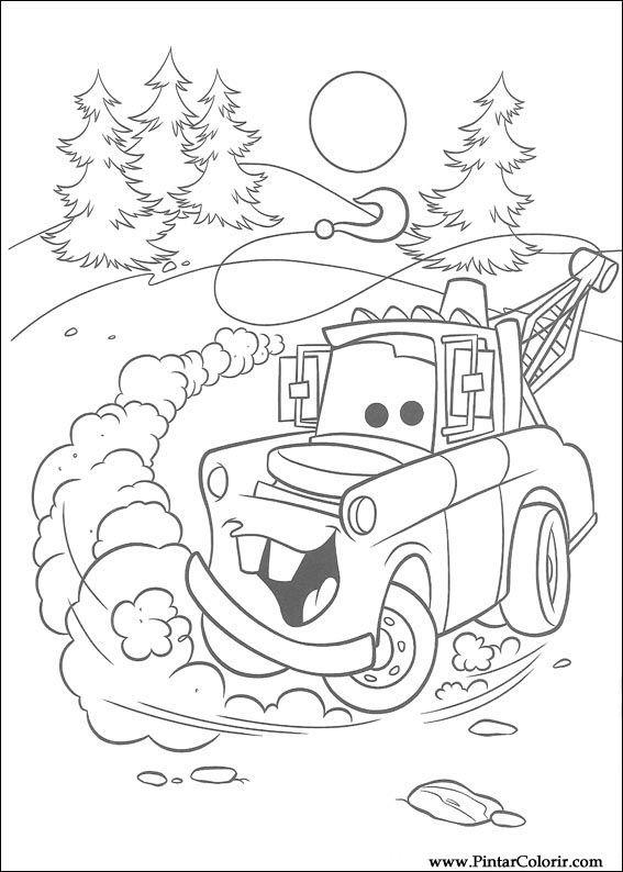 Dibujos para pintar y Color Rayo Mcqueen - Diseño de impresión 046