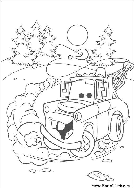 Dibujos para pintar y Color Rayo Mcqueen - Diseño de impresión 074