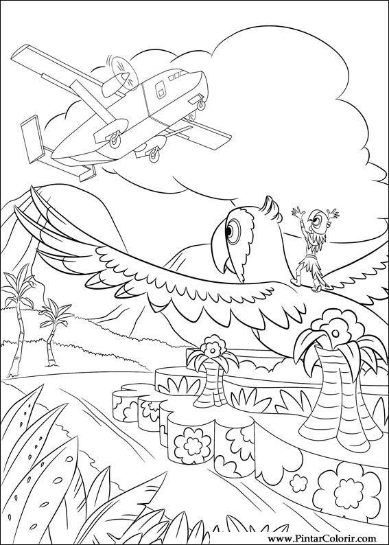 Tekeningen Te Schilderen Amp Kleur River Print Design 028