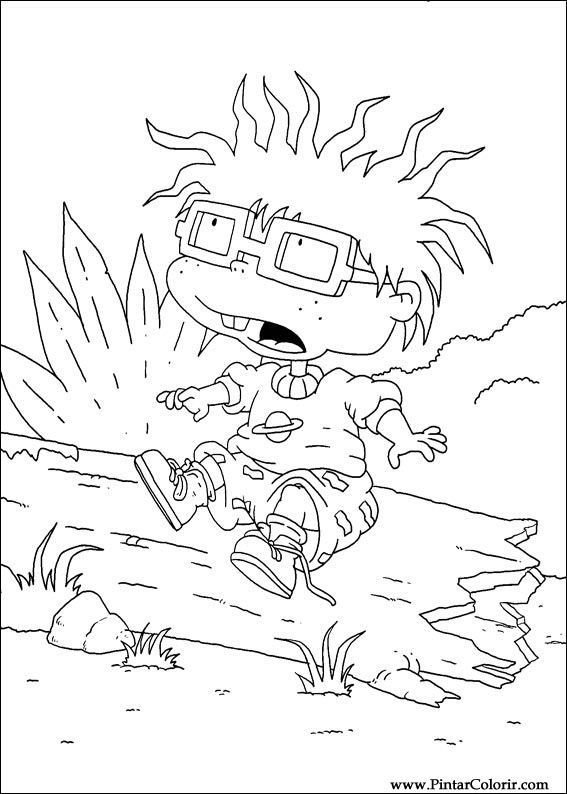 stu pickles coloring pages | Drawings To Paint & Colour Rugrats - Print Design 033