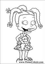 Pintar e Colorir Rugrats - Desenho 017