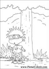 Pintar e Colorir Rugrats - Desenho 034