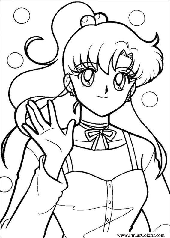 Sailor Moon Drawings Paint Colour Sailor Moon