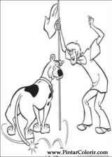 Pintar e Colorir Scooby Doo - Desenho 008