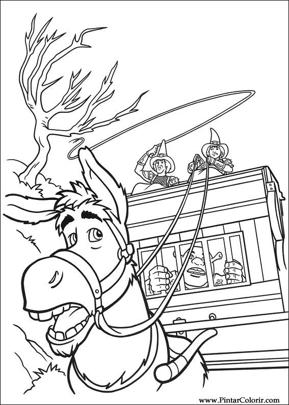 shrek forever after coloring pages - photo#33