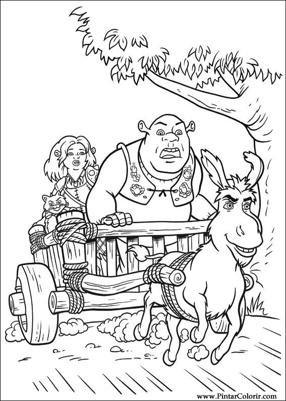 shreks house coloring pages - photo#8