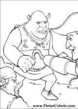 Pintar e Colorir Shrek Terceiro - Desenho 008