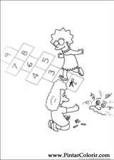 Pintar e Colorir Simpsons - Desenho 001