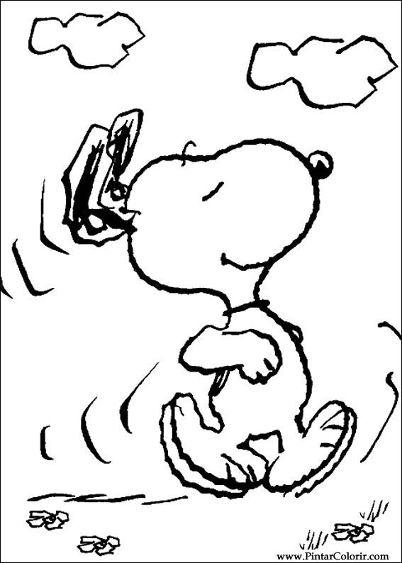 peanuts comics coloring pages - photo#19